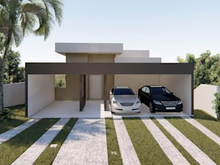 D.O.S. Arquitetura Single family home Concrete Brown