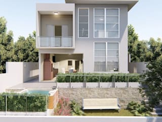 D.O.S. Arquitetura Single family home Stone Grey