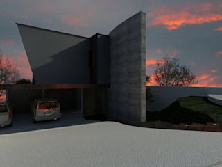 Modern houses by CESAR MONCADA SALAZAR (L2M ARQUITECTOS S DE RL DE CV) Modern