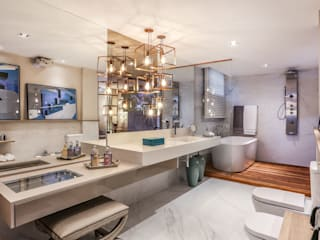 Suite de Casal Banheiros modernos por ANDREA PINTO DE ALMEIDA ARQUITETURA E CONSTRUÇÃO Moderno