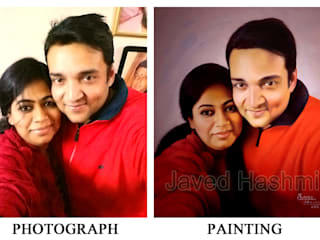 Photo to Painting: Turn Your Photo into Beautiful Handmade Oil Canvas Painting by Javed Hashmi Paintings