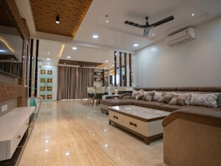 Luxurious Home Designed by Nabh Design & Associates Modern living room by Nabh Design & Associates Modern