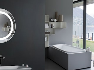 Baños de estilo minimalista de ЗеркалоПРО.рф Minimalista