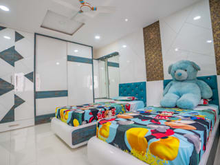 Nabh Design & Associates ห้องนอนเด็ก ไม้เอนจิเนียร์ Blue