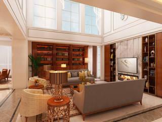 Projeto de interiores - Cascais Alpha Details Salas de estar modernas