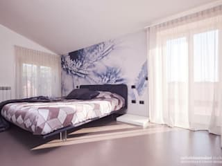 VILLA COCCHI Rachele Biancalani Studio Camera da letto minimalista