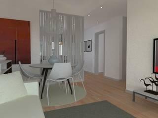 Remodelação de Apartamento: Salas de estar  por Camellia Design and Architecture,Moderno