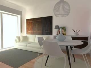 Remodelação de Apartamento Salas de jantar modernas por Camellia Design and Architecture Moderno