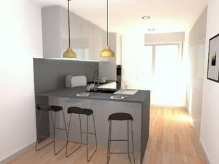 Remodelação de Apartamento: Cozinhas  por Camellia Design and Architecture,Moderno