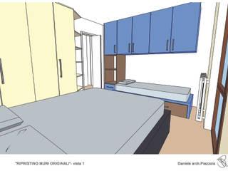 Ipotesi distributive appartamento Soggiorno moderno di Daniele Piazzola architetto e designer a Como Moderno