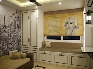 Dlf Newtown Heights - Living Room, Guest Adda Ghor Modern living room by Kphomes Modern