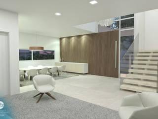 Livings de estilo minimalista de studio vtx Minimalista