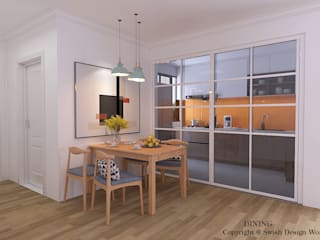Swish Design Works Modern dining room Plywood Wood effect