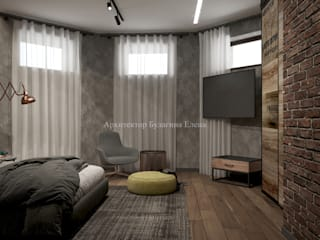 Dormitorios de estilo industrial de Архитектурное Бюро 'Капитель' Industrial