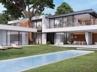Moradia Gandarinha 10 Casas minimalistas por Novostudio Arquitectos Minimalista