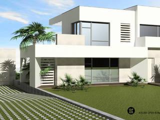 Villas de estilo  de ATELIER OPEN ® - Arquitetura e Engenharia, Moderno