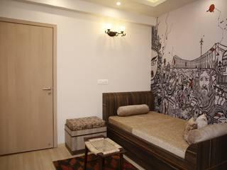 Dlf Newtown Heights   - Living Room, Guest Adda Ghor:  Living room by Kphomes,Modern