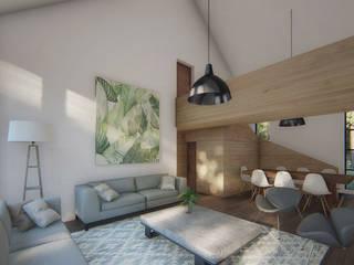 Dormitorios de estilo moderno de Soc. Constructora Cavent Spa Moderno