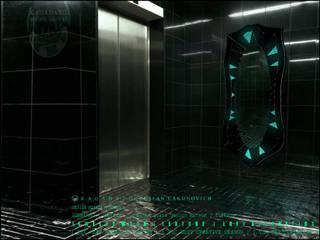 KAGADATO Ванная комнатаЗеркала Стекло Черный
