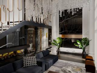 mimarenda design stüdio – mimarenda design studio:  tarz Oturma Odası, Eklektik