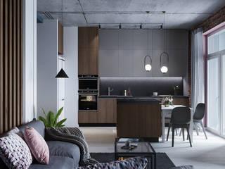 Klever Loft Гостиная в стиле лофт от V2 ARCHITECTS Лофт