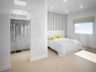 Dormitorio con vestidor Dormitorios de estilo moderno de ARQUIJOVEN SLP Moderno
