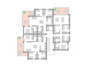 175 VIVIENDAS EN GUARDAMAR DEL SEGURA.: Casas multifamiliares de estilo  de ARQUIJOVEN SLP, Mediterráneo
