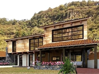 Cabaña Portezuelas. de MARQ. Arquitectos. Rústico
