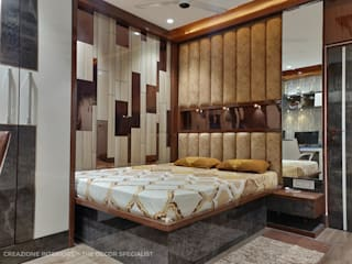 Bedroom Decoration At Bangur Avenue Kolkata: modern  by Creazione Interiors,Modern