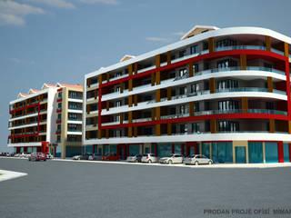 PRODAN MİMARLIK – İLKE İNŞAAT 66 DAİRE:  tarz Apartman, Modern