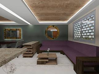 Arquitectura Tiempo & Espacio Salones minimalistas Madera Blanco