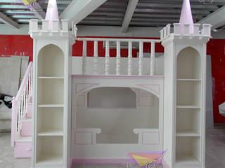 Divino castillo litera de camas y literas infantiles kids world Clásico Derivados de madera Transparente