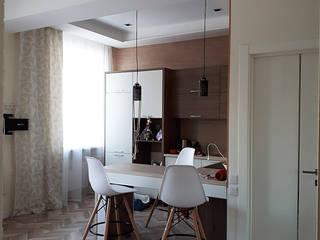 кухня-гостиная в небольшой квартире от студия