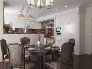 Дизайн кухни-столовой от Центр архитектуры и дизайна 'Freeдом'