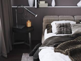 Дизайн-проект спальни в современном стиле Спальня в стиле минимализм от izidizi.com Минимализм