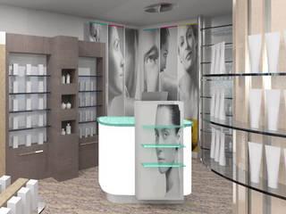 INFOGRAFIAS 3D, REFORMA DE FARMACIA_TORREPEROGIL de MADE | ARQUITECTURA Y DISEÑO INTERIOR