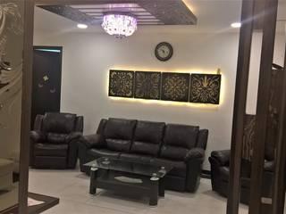 Mr Ravi &Gayathri Sangaram @My Home Abhra Asian style living room by Interiors Reborn Asian