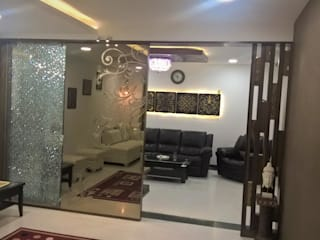 Mr Ravi &Gayathri Sangaram @My Home Abhra Classic style living room by Interiors Reborn Classic