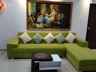 Ramky Elite,Gachibowli Eclectic style living room by Interiors Reborn Eclectic