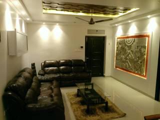 Ramky Elite,Gachibowli Industrial style living room by Interiors Reborn Industrial
