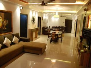 Ramky Elite,Gachibowli Modern living room by Interiors Reborn Modern