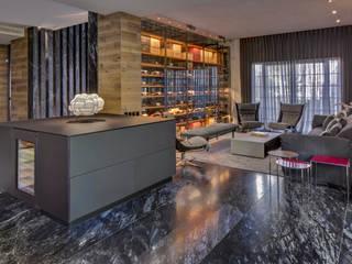 Salas de estar modernas por Serrano Monjaraz Arquitectos Moderno