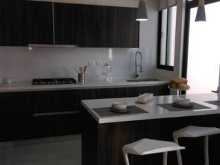 Cocina Integral Quarzo Blanco Zibata de GHogar Moderno