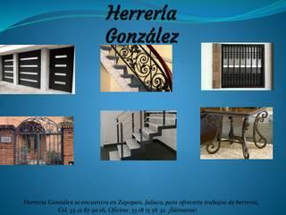 herrería gonzalez Rustic style balcony, veranda & terrace Metal Black