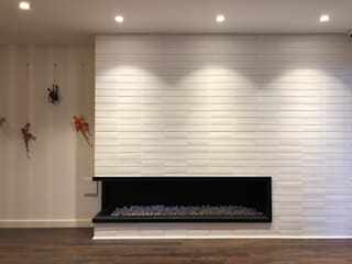 entrearquitectosestudio Modern walls & floors Bricks White