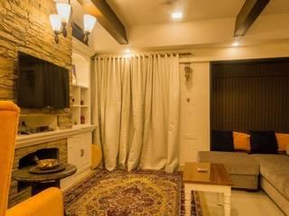 Mrs Mahajan's:  Living room by Ideation Designs,Modern
