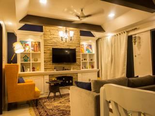 Mrs Mahajan's:  Media room by Ideation Designs,Modern