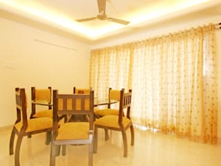 Interior for a 2 bhk:  Dining room by Ideation Designs,Modern