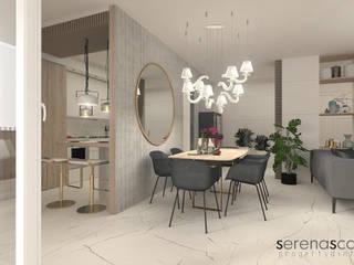 Casa di Amanda Sala da pranzo moderna di serenascaioli_progettidinterni Moderno