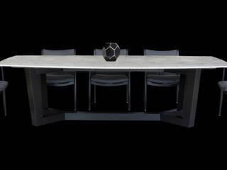 Salas de jantar modernas por Casa de las Lomas Moderno